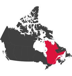 Map canada - quebec vector