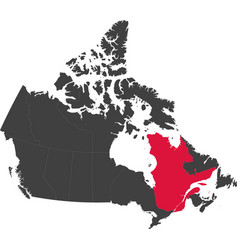 Map of canada - quebec vector