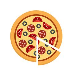 Margarita pizza icon flat style vector