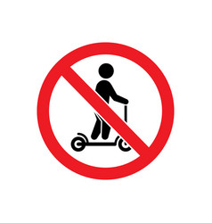 No scooter allowed glyph icon vector