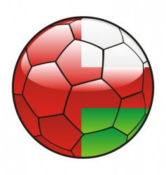 Oman flag on soccer ball vector