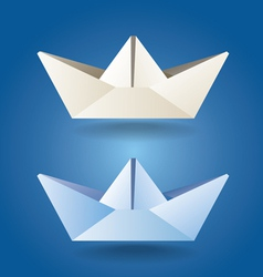 Paper boats soft colors vector