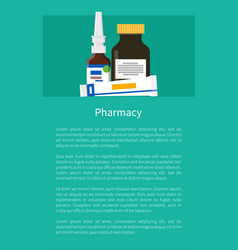 pharmacy poster with nasal drops ointment in tube vector image