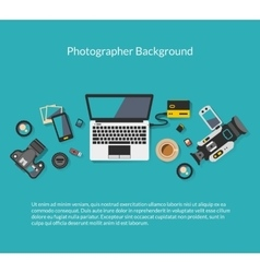 Photographer and videographer workspace vector image