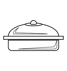 Pot icon outline style vector