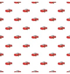 Red car pattern cartoon style vector