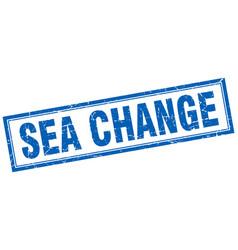 Sea change square stamp vector