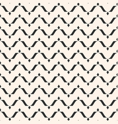 Seamless horizontal wavy lines curved pattern vector