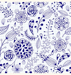 Seamless summer doodle vector
