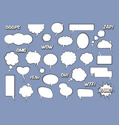 set comic speech balloons vector image