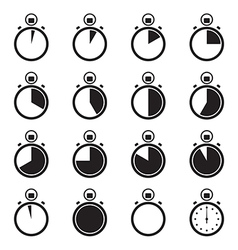 Set of stopwatch icons vector image