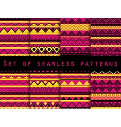 Set the texture seamless in ethnic style vector