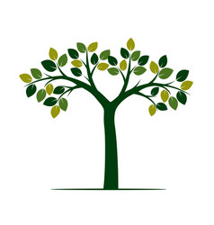 Shape green tree vector