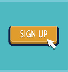 sign up button click vector image
