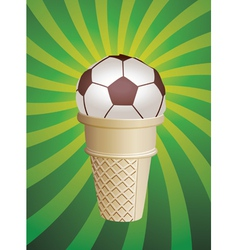 Soccer fan icecream vector
