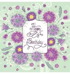 summer flowers birthday vector image