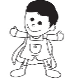 Superhero child vector