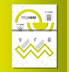 Template infographic with figures geometrics vector
