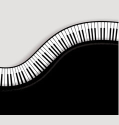 top view piano keys vector image