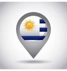 Uruguay flag pin vector