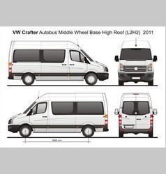 Volkswagen crafter passenger bus l2h2 2011 vector