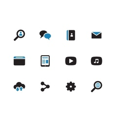 Web duotone icons on white background vector image