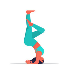 woman doing yoga exercise fitness training healthy vector image
