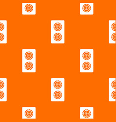 fish roll pattern seamless vector image vector image