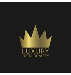 Luxury quality symbol vector image