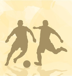 Two football players on an abstract background vector image vector image