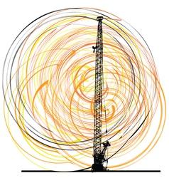 Abstract construction crane vector image vector image