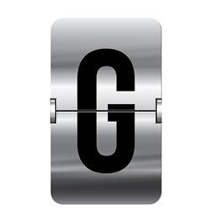 Alphabet silver flipboard letters g vector image vector image