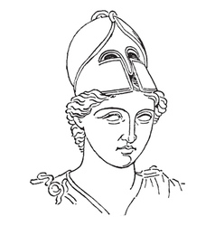 Greek Centurion vintage engraving vector image