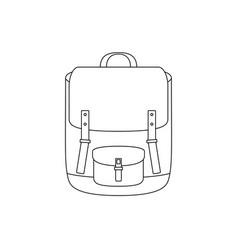 school bag line drawing vector image vector image