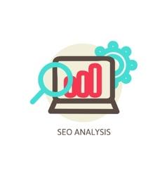 SEO analysis process concept vector image