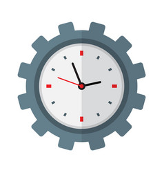 time management icon clock inside gear vector image vector image