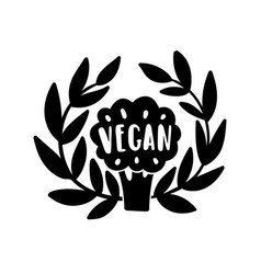 vegan hand drawn vector image vector image