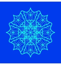 Yoga Ornament kaleidoscopic yantra Indian Art vector image
