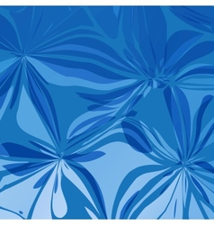 Abstract Blue Flowers vector image