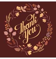 Autumn Wedding Floral Frame Collection Sign thank vector image vector image
