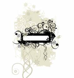 floral frame silhouette vector image vector image