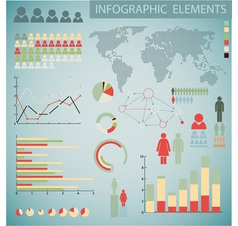 Infographics color inv retro col vector
