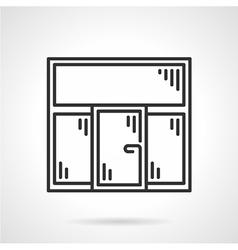 Plastic window black line icon vector image vector image