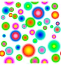 Seamless summer polka dot pattern vector image