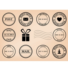 set - post stamps vector image