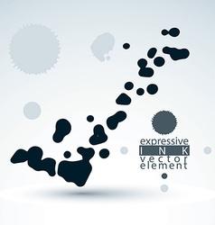 Splattered monochrome web design element art ink vector image