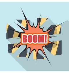 Cartoon BOOM Design element for the site vector image vector image