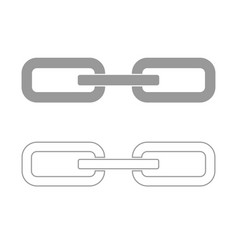 Chain link set icon vector