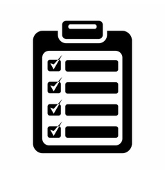 Document plan icon simple style vector image vector image
