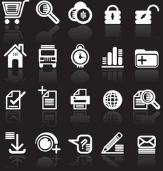essential web style icons vector image vector image